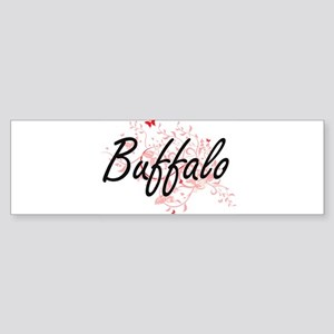 Buffalo New York City Artistic desi Bumper Sticker