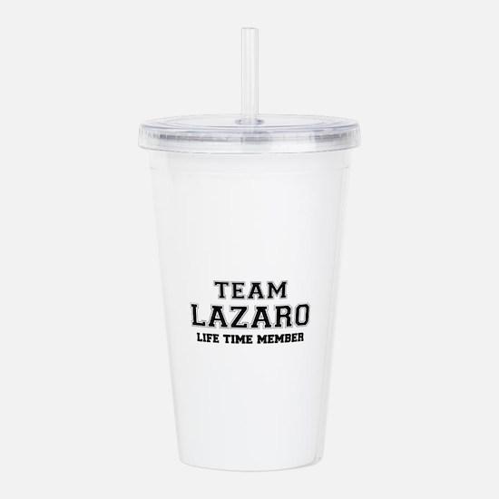 Team LAZARO, life time Acrylic Double-wall Tumbler