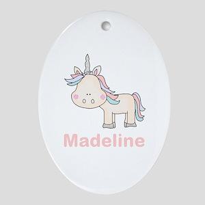 Madeline's Little Unicorn Oval Ornament