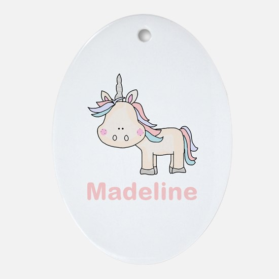 Madeline's Little Unicorn Oval Ornament