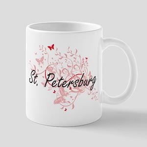 St. Petersburg Florida City Artistic design w Mugs