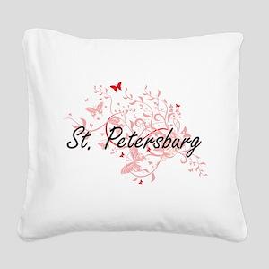 St. Petersburg Florida City A Square Canvas Pillow