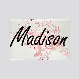 Madison Wisconsin City Artistic design wit Magnets