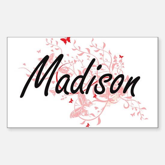 Madison Wisconsin City Artistic design wit Decal
