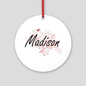 Madison Wisconsin City Artistic des Round Ornament