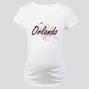Orlando Florida City Artistic de Maternity T-Shirt
