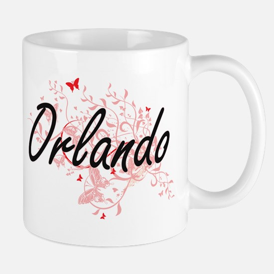 Orlando Florida City Artistic design with but Mugs