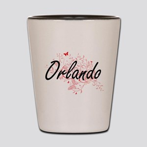 Orlando Florida City Artistic design wi Shot Glass