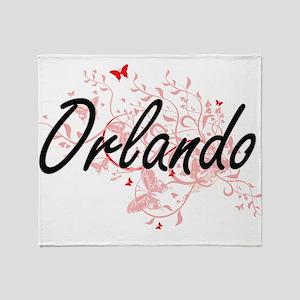 Orlando Florida City Artistic design Throw Blanket