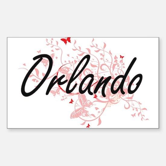 Orlando Florida City Artistic design with Decal