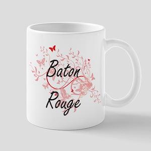 Baton Rouge Louisiana City Artistic design wi Mugs