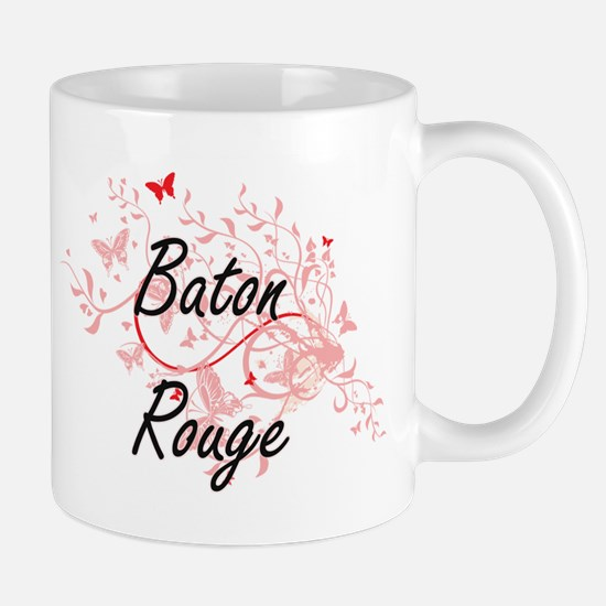 Baton Rouge Louisiana City Artistic design wi Mugs
