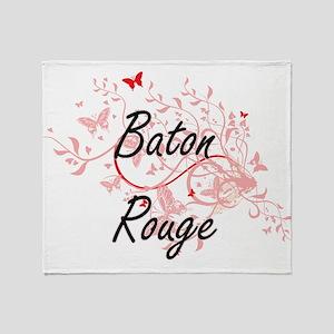 Baton Rouge Louisiana City Artistic Throw Blanket