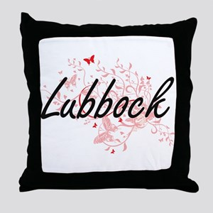 Lubbock Texas City Artistic design wi Throw Pillow