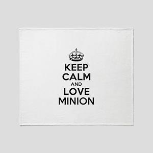 Keep Calm and Love MINION Throw Blanket