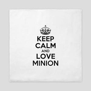 Keep Calm and Love MINION Queen Duvet