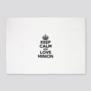 Keep Calm and Love MINION 5'x7'Area Rug