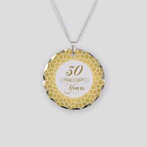30th Wedding Anniversary Necklace Circle Charm