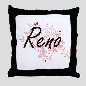 Reno Nevada City Artistic design with Throw Pillow