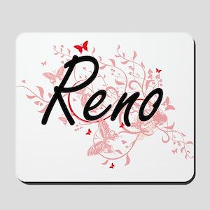 Reno Nevada City Artistic design with bu Mousepad
