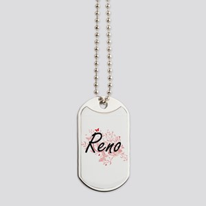 Reno Nevada City Artistic design with but Dog Tags