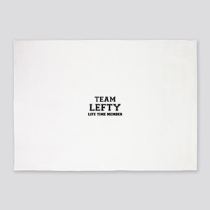 Team LEFTY, life time member 5'x7'Area Rug