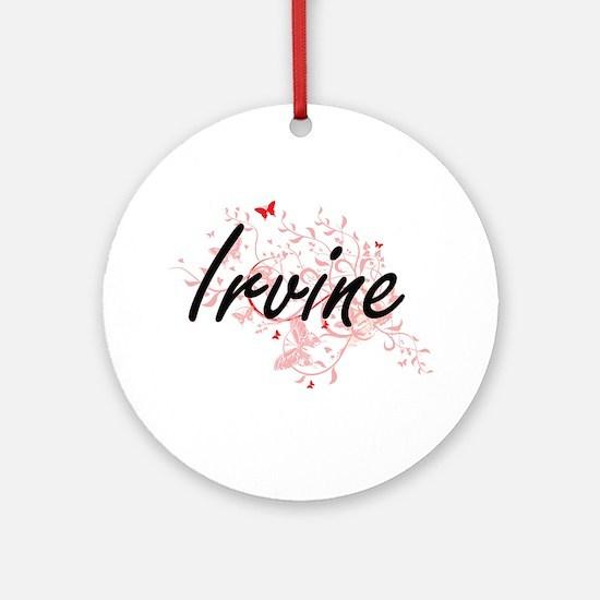 Irvine California City Artistic des Round Ornament