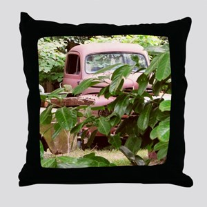Old Trucks In The Weeds Throw Pillow