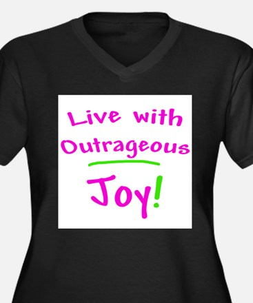 Pink Live With Outrageous Joy Plus Size T-Shirt