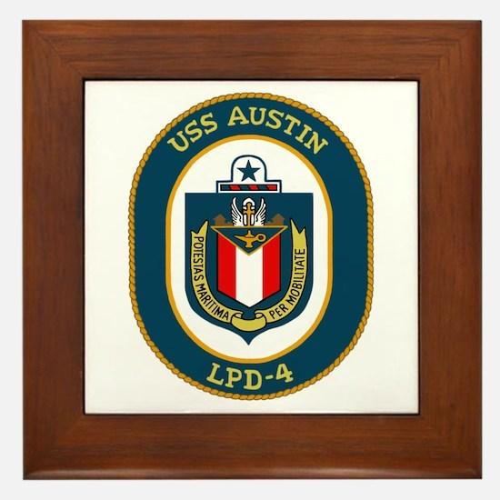 USS Austin (LPD 4) Framed Tile