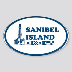 Sanibel Island Oval Sticker