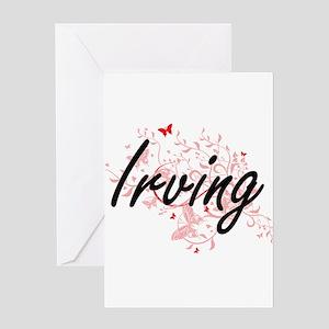 Irving Texas City Artistic design w Greeting Cards