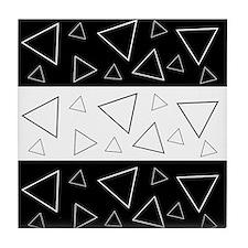 Black/white Geometric Print Tile Coaster