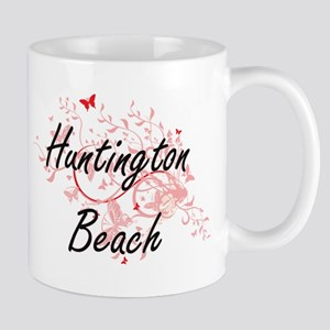 Huntington Beach California City Artistic des Mugs