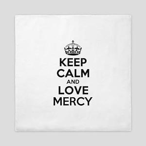 Keep Calm and Love MERCY Queen Duvet