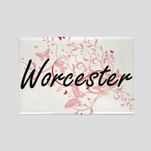 Worcester Massachusetts City Artistic desi Magnets