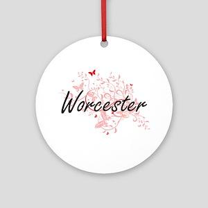 Worcester Massachusetts City Artist Round Ornament