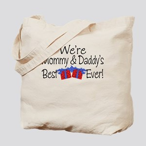 Best Blue Present Tote Bag