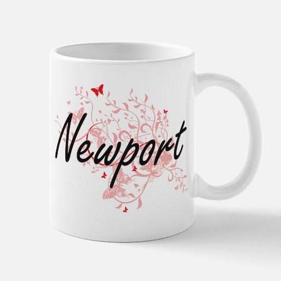 Newport Virginia City Artistic design with bu Mugs