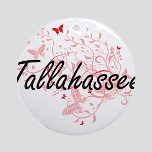 Tallahassee Florida City Artistic d Round Ornament