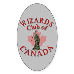 Wizards Club Oval Decal