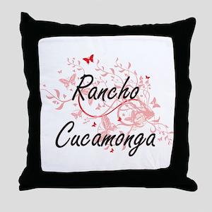Rancho Cucamonga California City Arti Throw Pillow