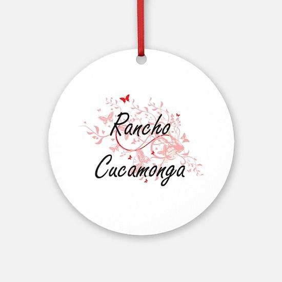 Rancho Cucamonga California City Ar Round Ornament