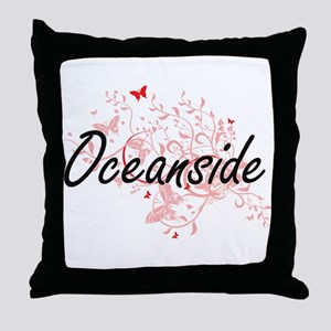 Oceanside California City Artistic de Throw Pillow