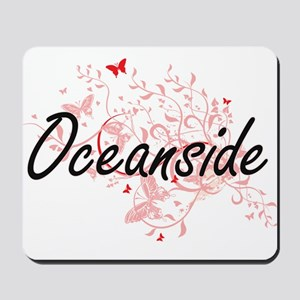 Oceanside California City Artistic desig Mousepad