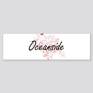 Oceanside California City Artistic Bumper Sticker
