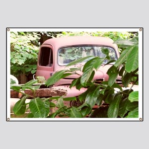 Old Trucks In The Weeds Banner