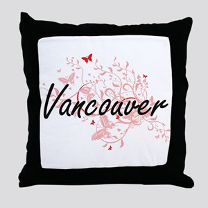 Vancouver Washington City Artistic de Throw Pillow
