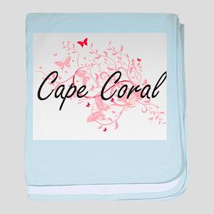 Cape Coral Florida City Artistic desi baby blanket