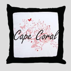 Cape Coral Florida City Artistic desi Throw Pillow